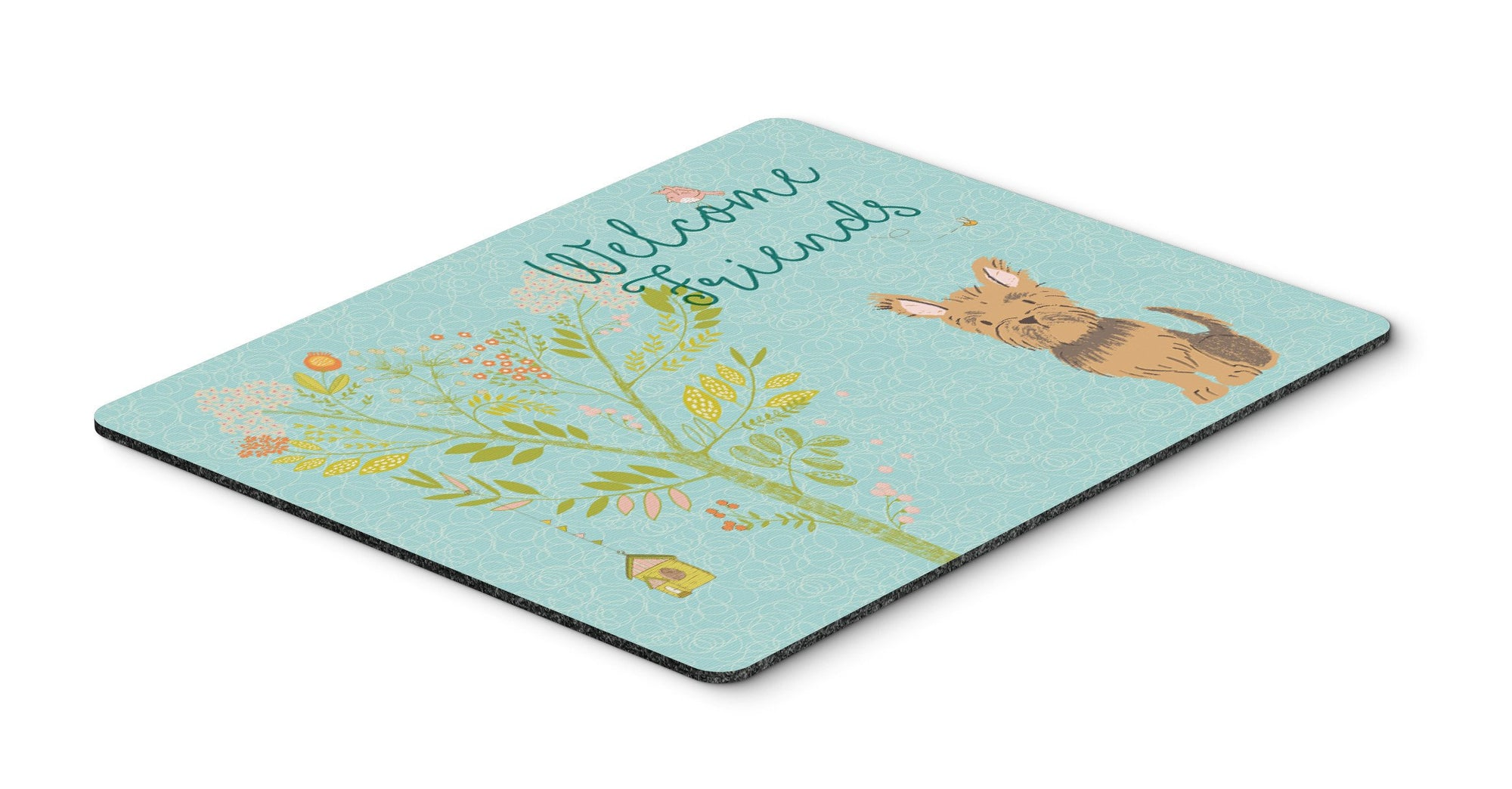 Buy this Welcome Friends Yorkie Mouse Pad, Hot Pad or Trivet BB7641MP