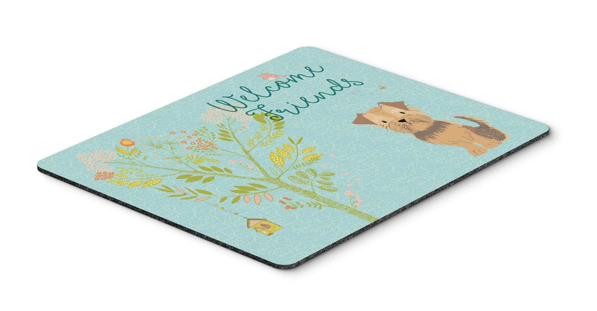 Buy this Welcome Friends Yorkie Natural Ears Mouse Pad, Hot Pad or Trivet BB7642MP