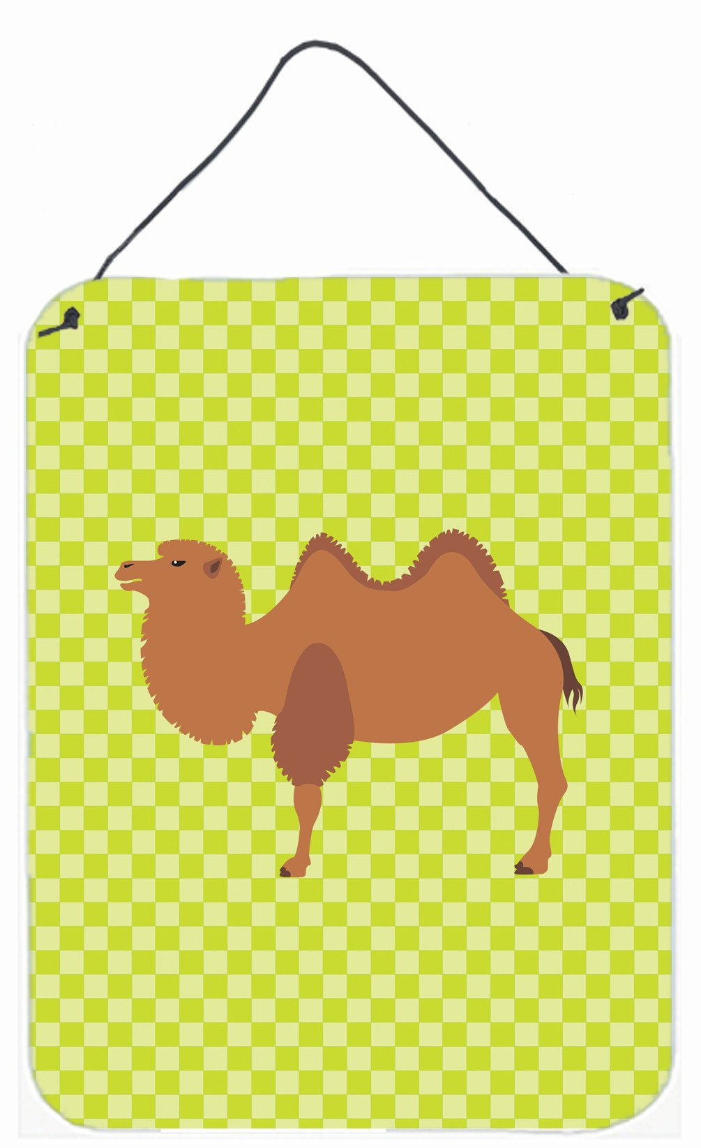 Bactrian Camel Green Wall or Door Hanging Prints BB7644DS1216 by Caroline's Treasures