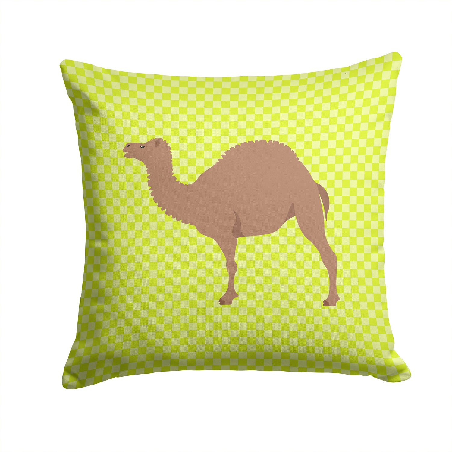 F1 Hybrid Camel Green Fabric Decorative Pillow BB7645PW1414 by Caroline's Treasures