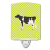 Holstein Cow Green Ceramic Night Light BB7648CNL by Caroline's Treasures