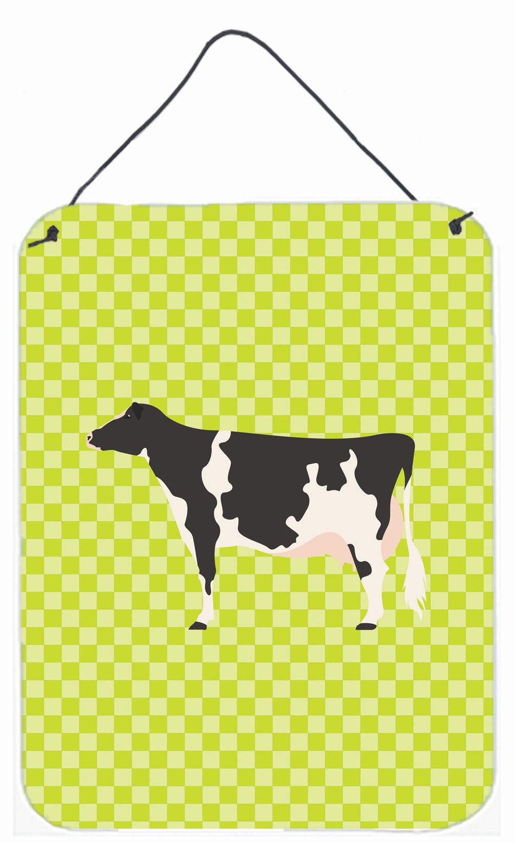 Holstein Cow Green Wall or Door Hanging Prints BB7648DS1216 by Caroline's Treasures