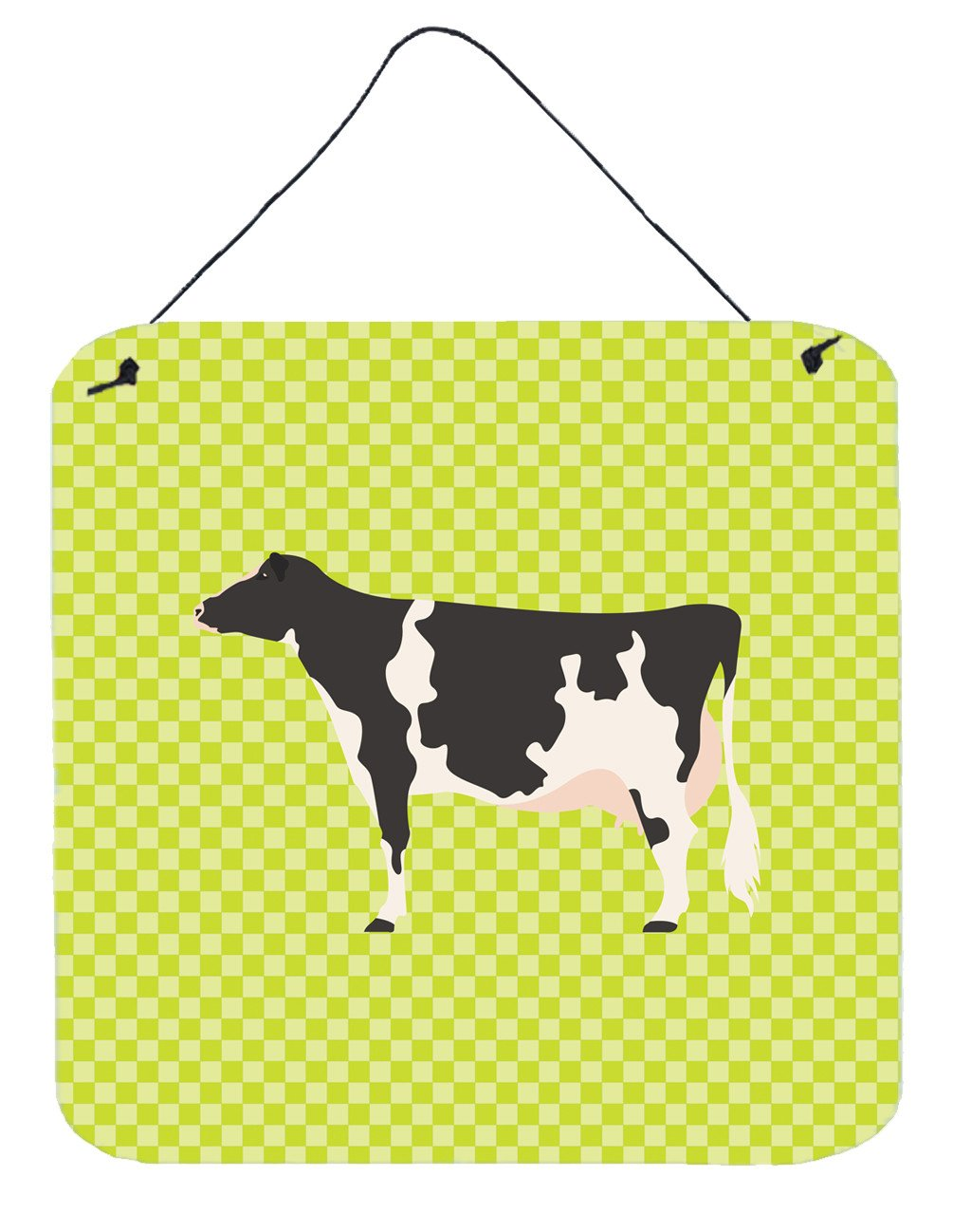 Holstein Cow Green Wall or Door Hanging Prints BB7648DS66 by Caroline's Treasures