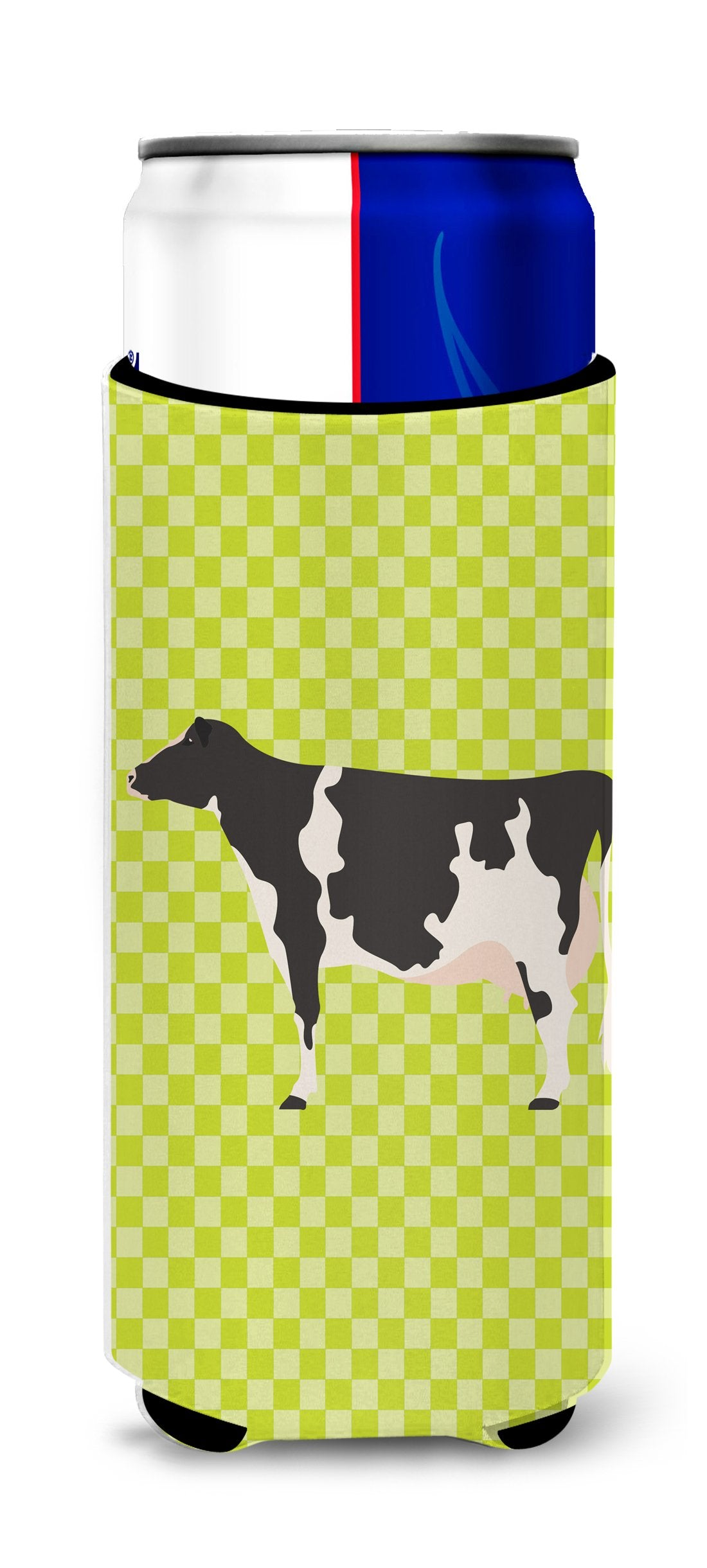 Holstein Cow Green Michelob Ultra Hugger for slim cans by Caroline's Treasures