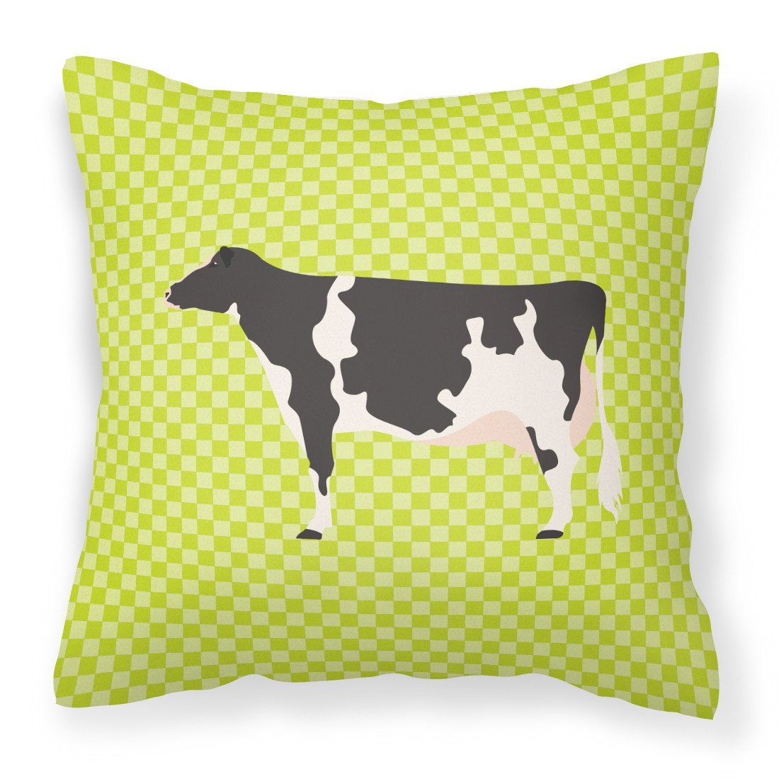 Holstein Cow Green Fabric Decorative Pillow BB7648PW1818 by Caroline's Treasures