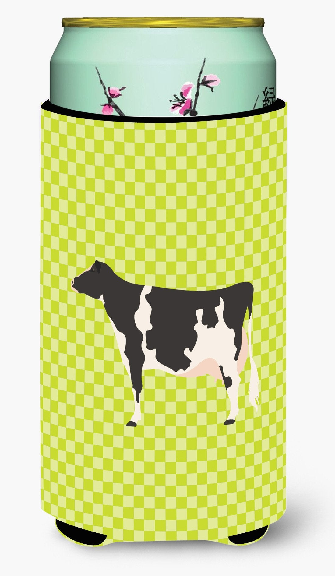 Holstein Cow Green Tall Boy Beverage Insulator Hugger BB7648TBC by Caroline's Treasures
