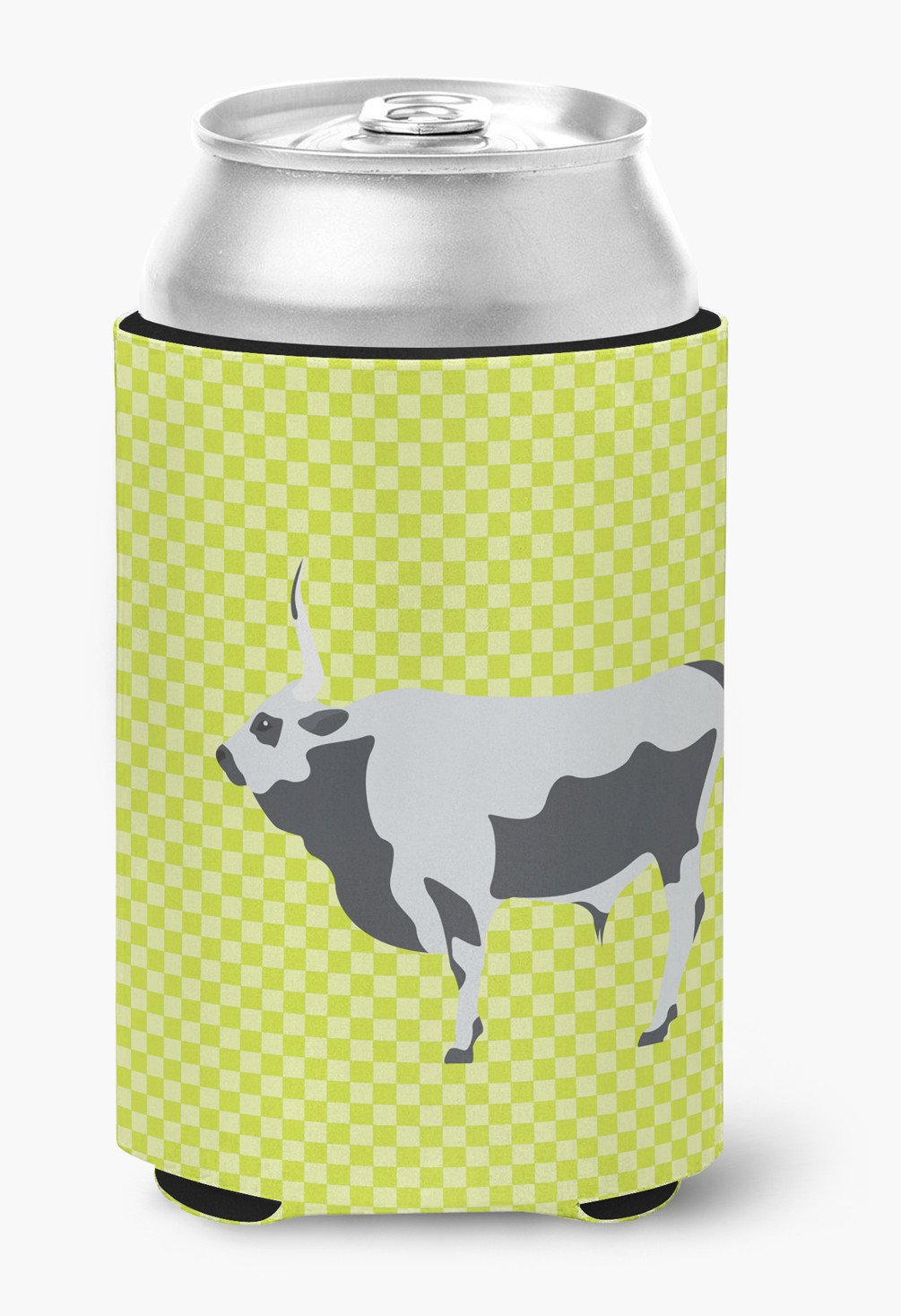 Hungarian Grey Steppe Cow Green Can or Bottle Hugger BB7650CC by Caroline's Treasures