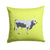 Hungarian Grey Steppe Cow Green Fabric Decorative Pillow BB7650PW1414 by Caroline's Treasures