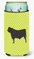 Black Angus Cow Green Tall Boy Beverage Insulator Hugger BB7654TBC by Caroline's Treasures