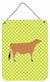 Jersey Cow Green Wall or Door Hanging Prints BB7655DS1216 by Caroline's Treasures