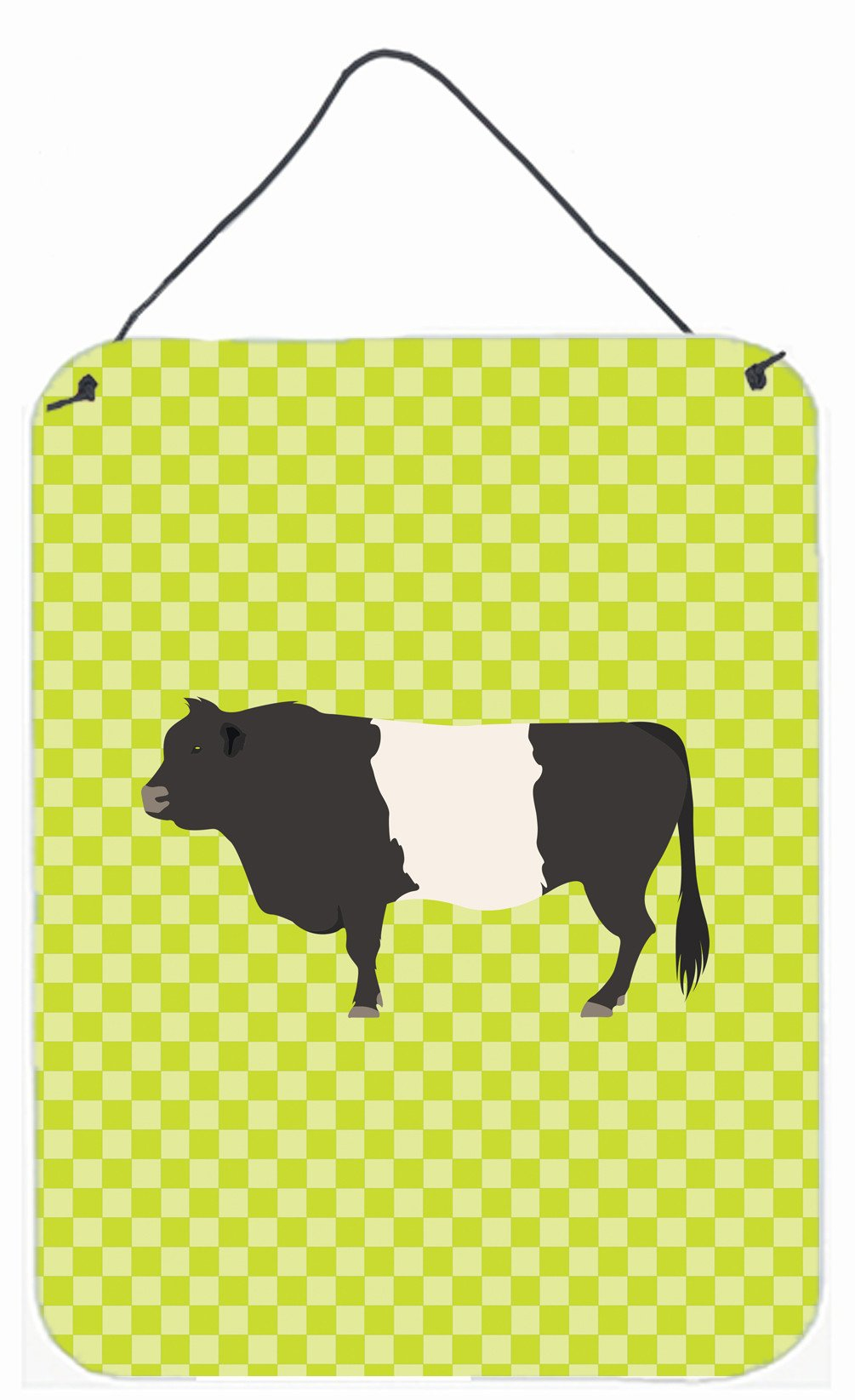 Belted Galloway Cow Green Wall or Door Hanging Prints BB7657DS1216 by Caroline's Treasures