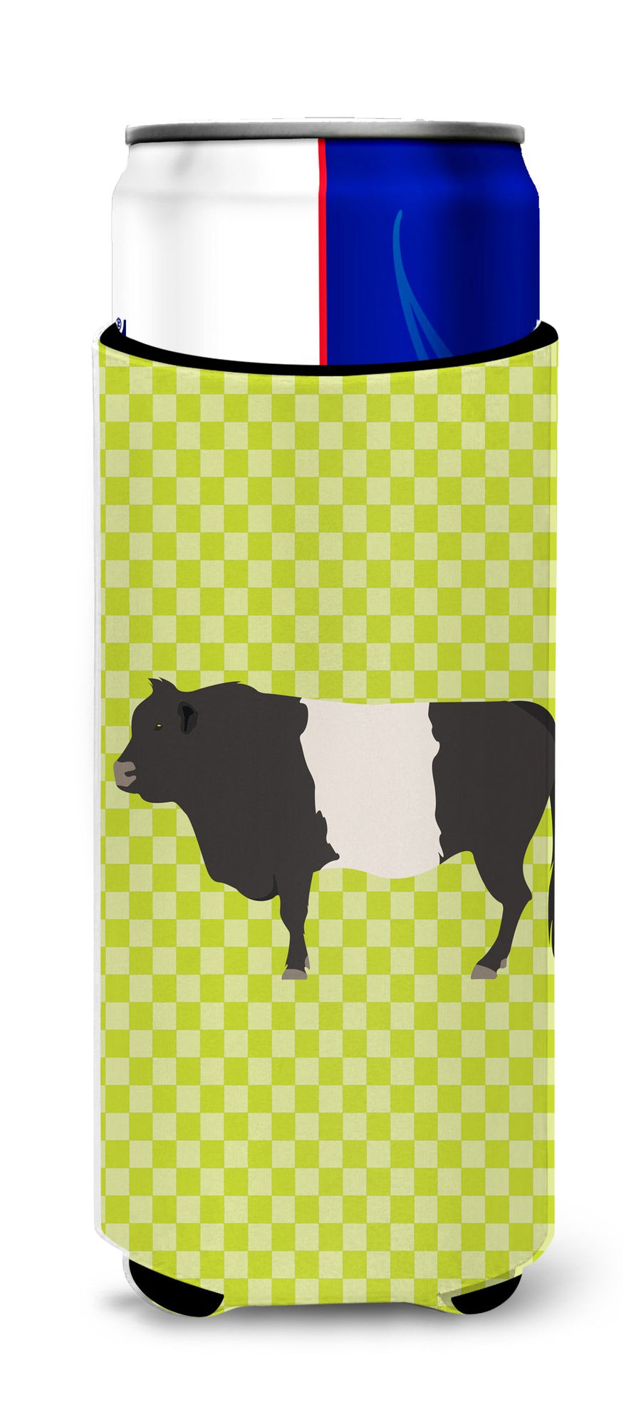 Buy this Belted Galloway Cow Green Michelob Ultra Hugger for slim cans