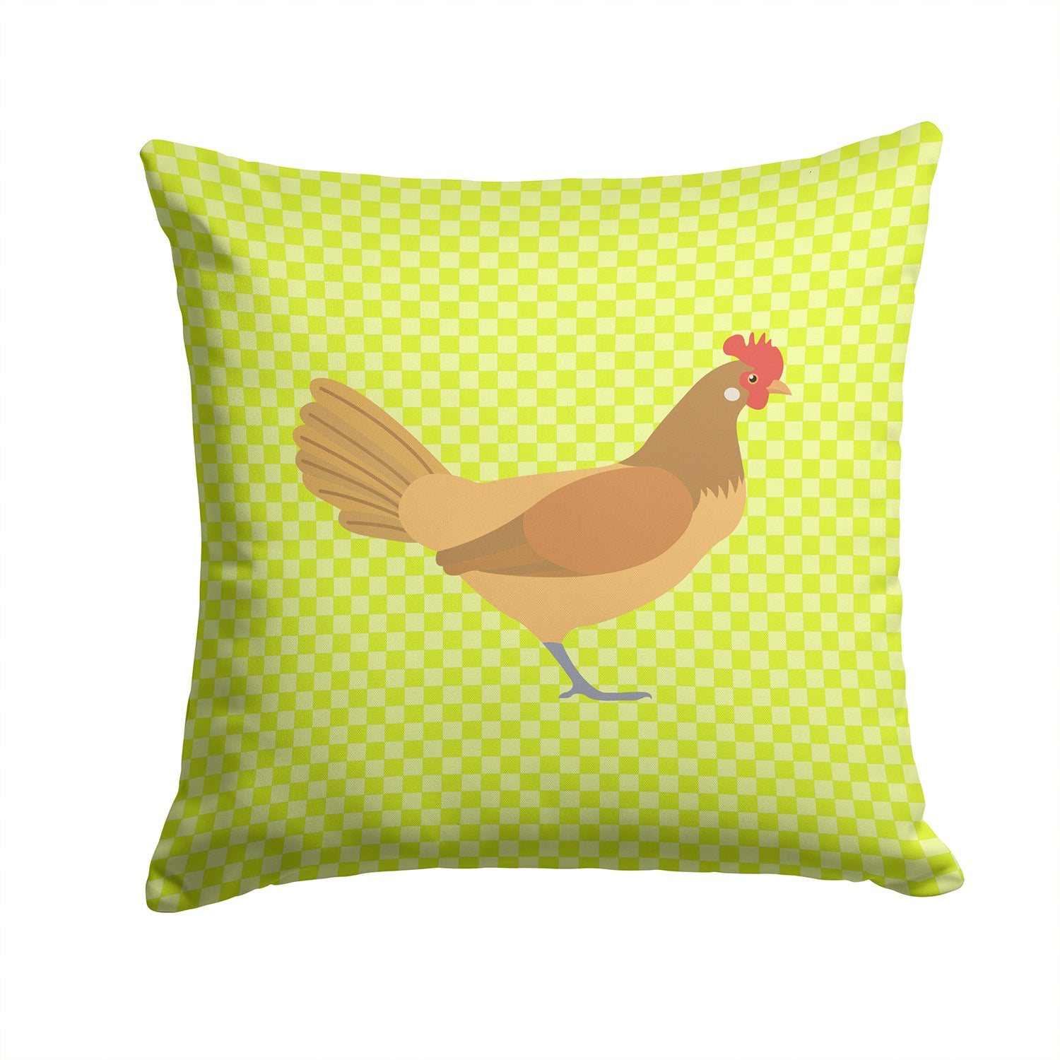 Frisian Friesian Chicken Green Fabric Decorative Pillow BB7658PW1414 by Caroline's Treasures