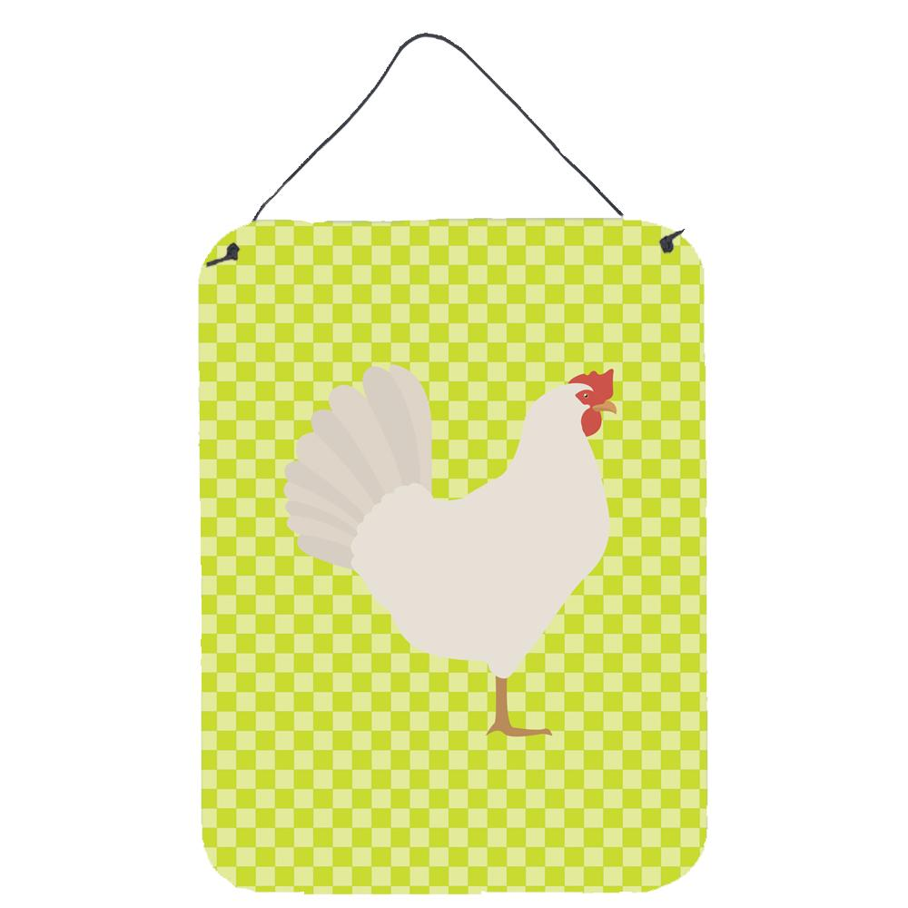 Leghorn Chicken Green Wall or Door Hanging Prints BB7666DS1216 by Caroline's Treasures