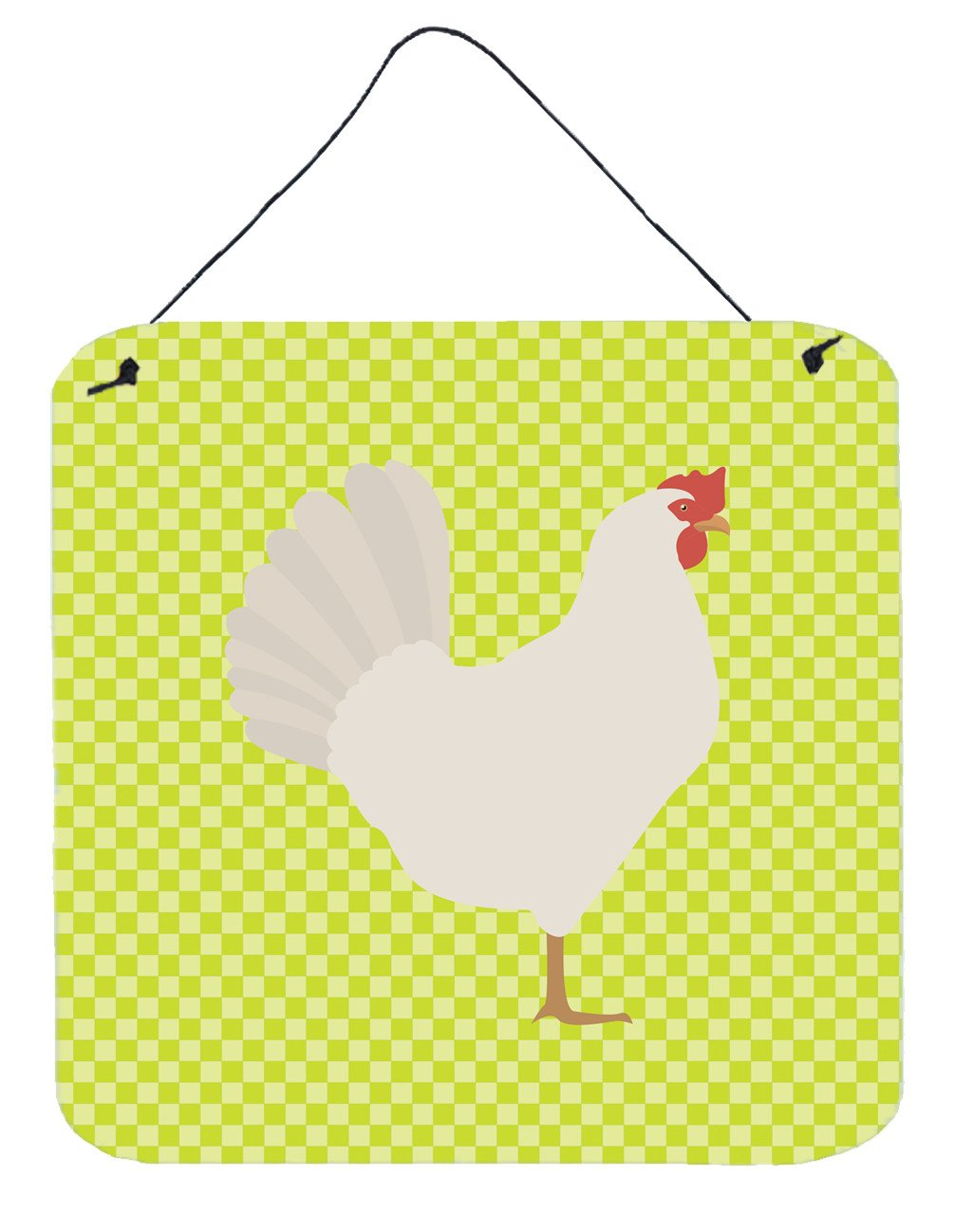 Leghorn Chicken Green Wall or Door Hanging Prints BB7666DS66 by Caroline's Treasures
