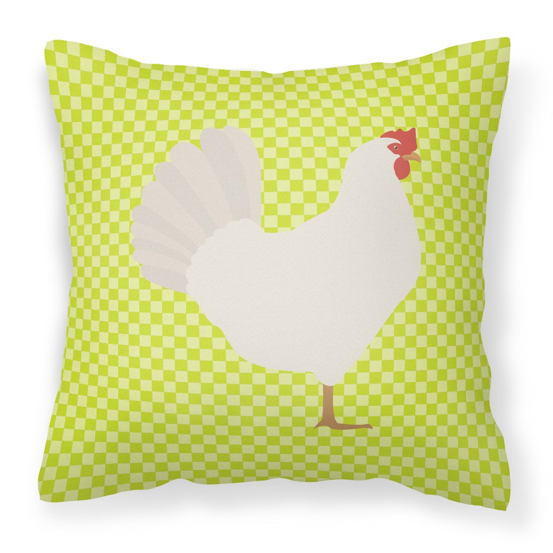 Leghorn Chicken Green Fabric Decorative Pillow BB7666PW1818 by Caroline's Treasures