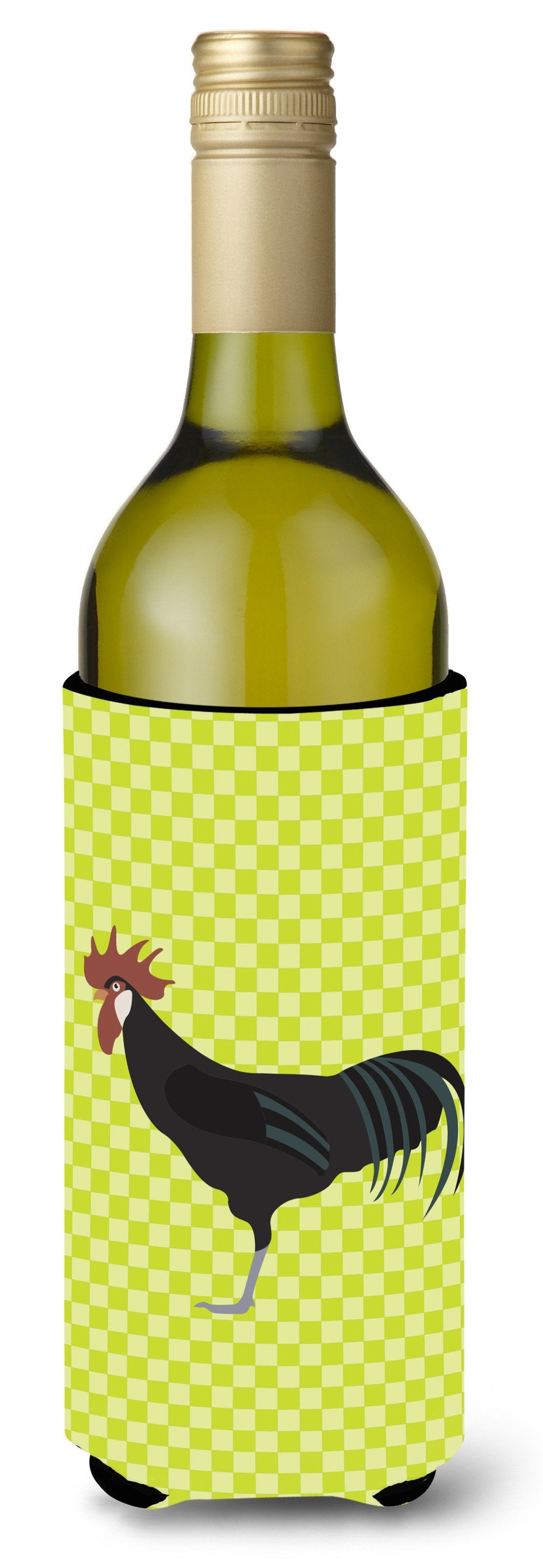 Minorca Ctalalan Chicken Green Wine Bottle Beverge Insulator Hugger BB7667LITERK by Caroline's Treasures