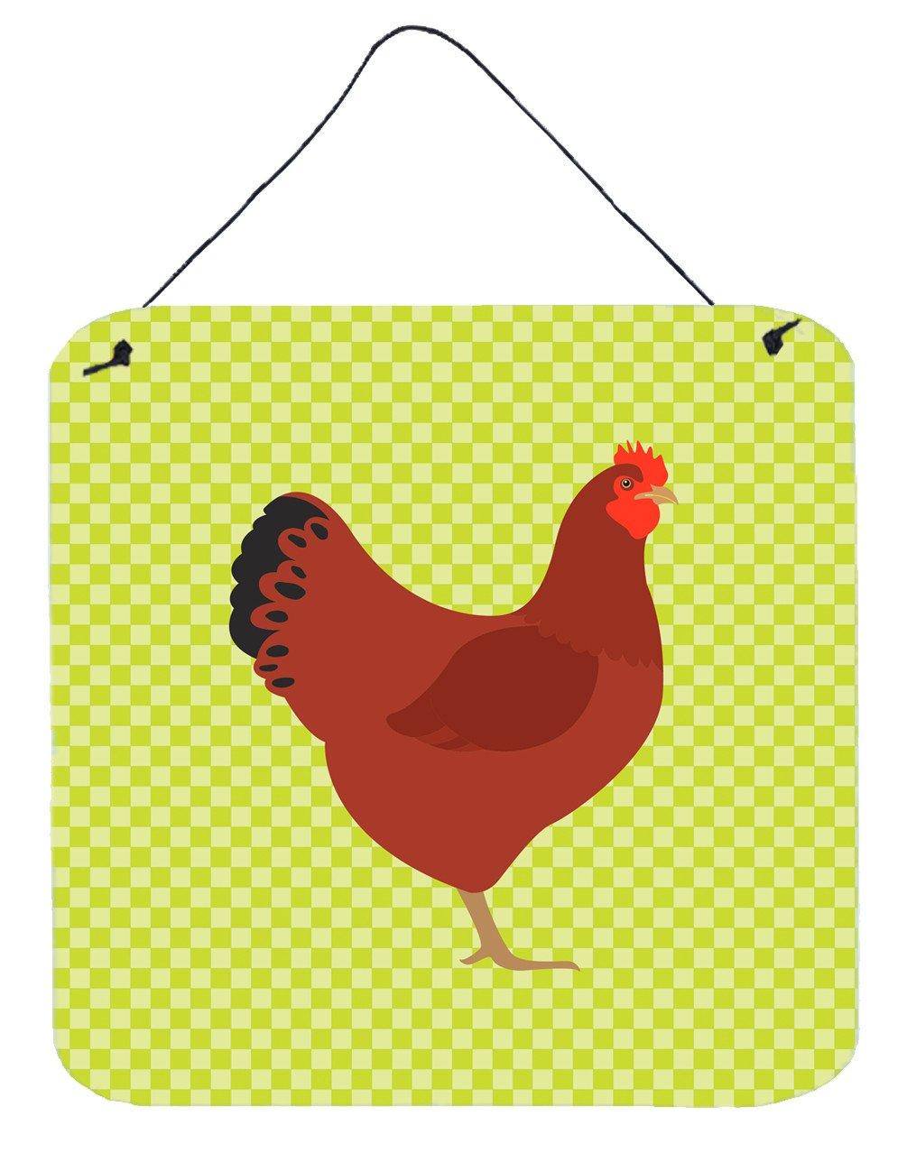 New Hampshire Red Chicken Green Wall or Door Hanging Prints BB7669DS66 by Caroline's Treasures
