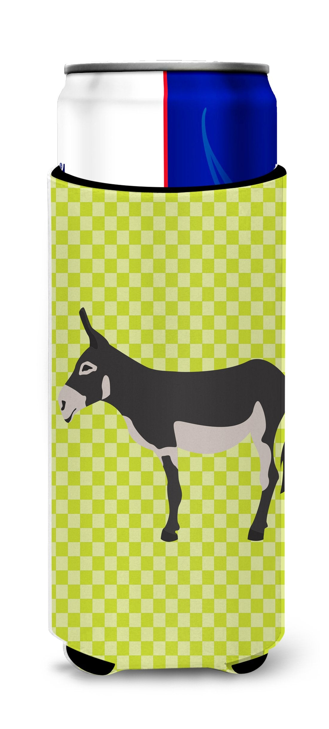 American Mammoth Jack Donkey Green Michelob Ultra Hugger for slim cans by Caroline's Treasures