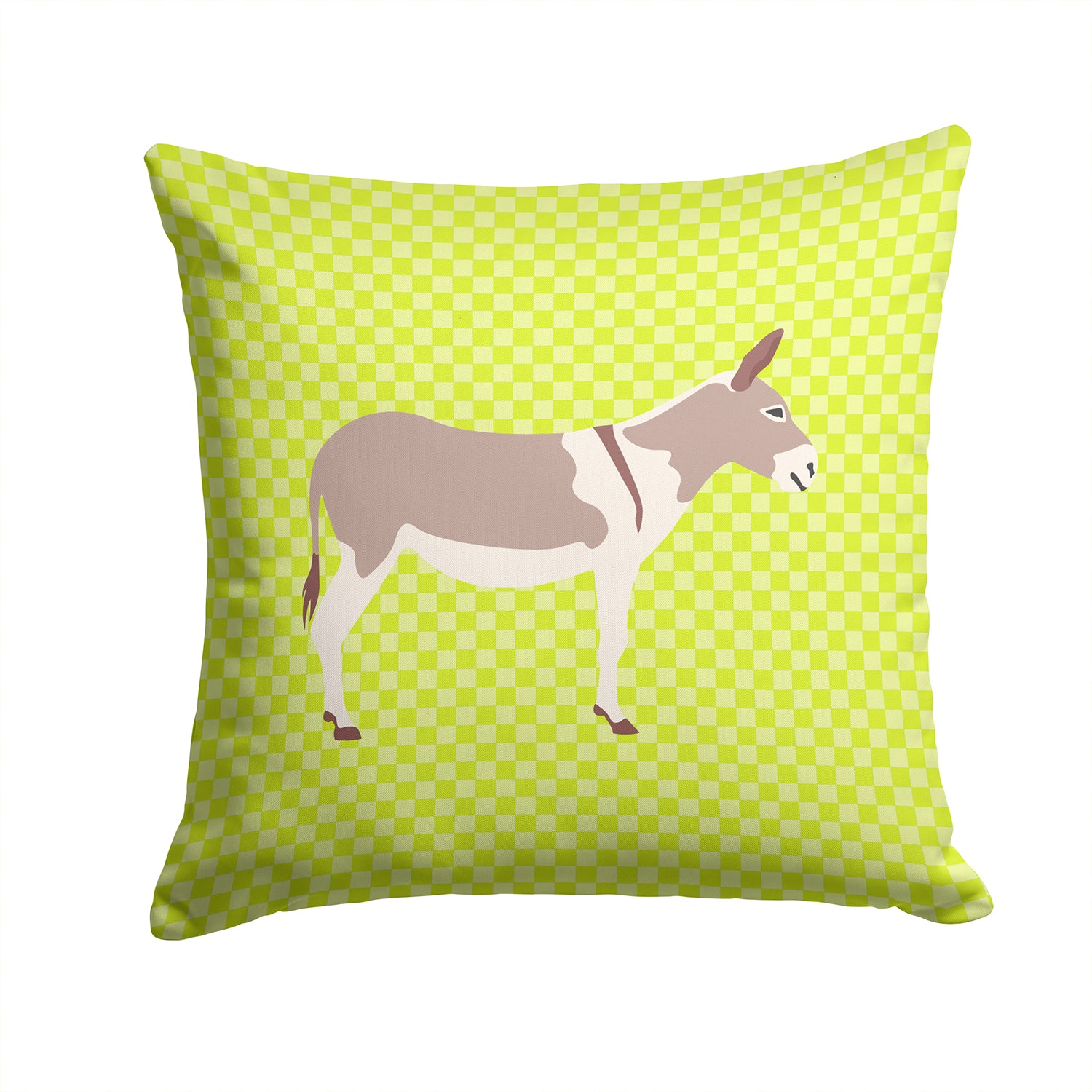 Australian Teamster Donkey Green Fabric Decorative Pillow BB7672PW1414 by Caroline's Treasures