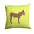 Cotentin Donkey Green Fabric Decorative Pillow BB7675PW1414 by Caroline's Treasures