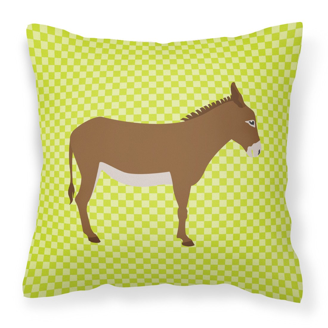 Cotentin Donkey Green Fabric Decorative Pillow BB7675PW1818 by Caroline's Treasures
