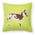 American Spotted Donkey Green Fabric Decorative Pillow BB7677PW1818 by Caroline's Treasures