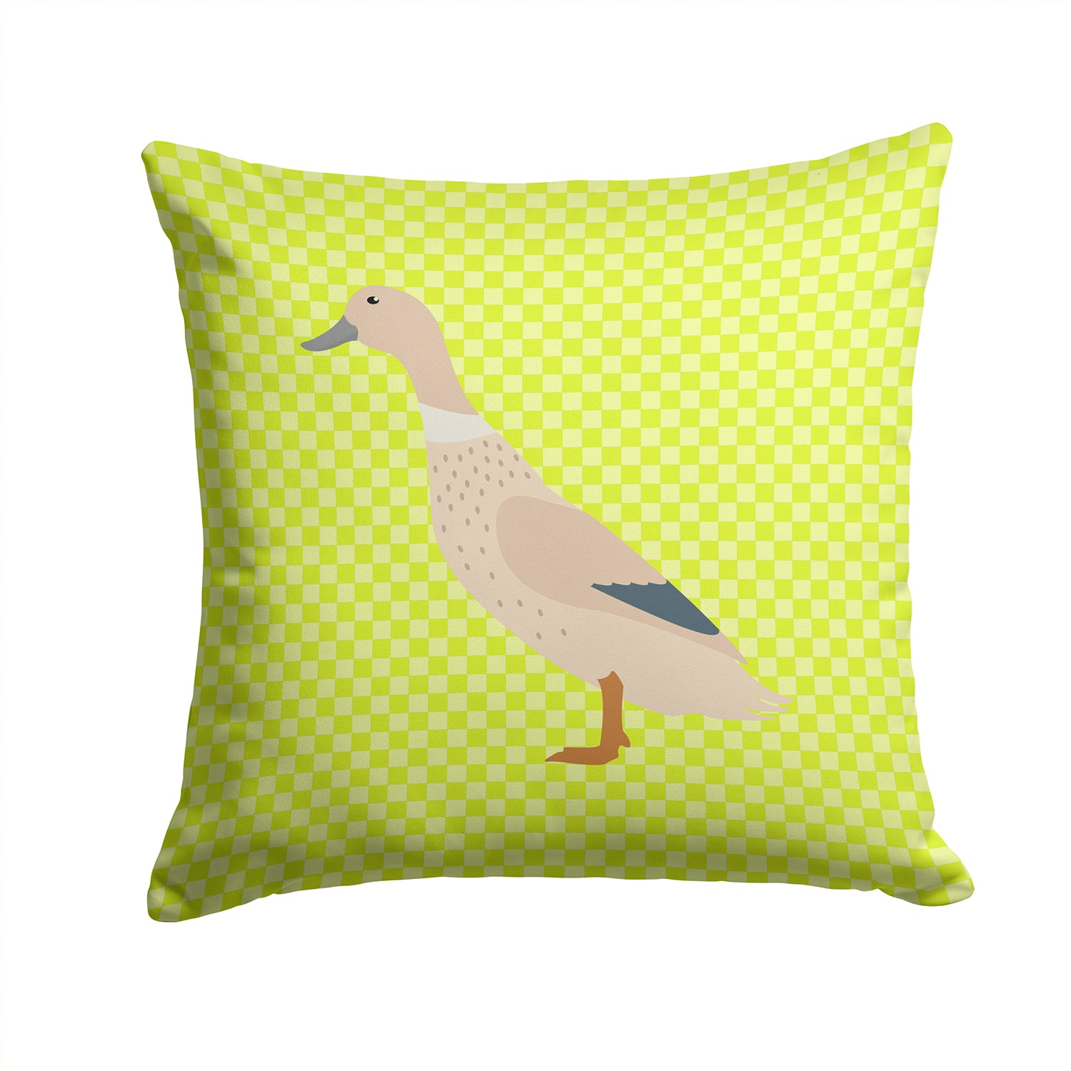 Buy this West Harlequin Duck Green Fabric Decorative Pillow BB7684PW1414