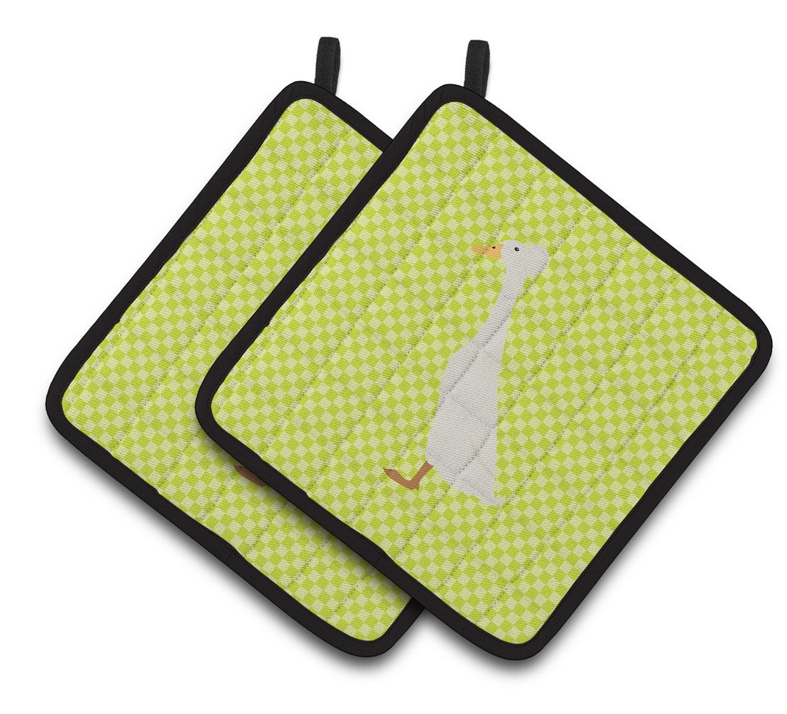 Bali Duck Green Pair of Pot Holders BB7685PTHD by Caroline's Treasures