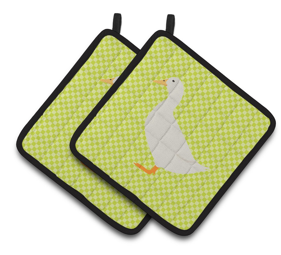 American Pekin Duck Green Pair of Pot Holders BB7686PTHD by Caroline's Treasures