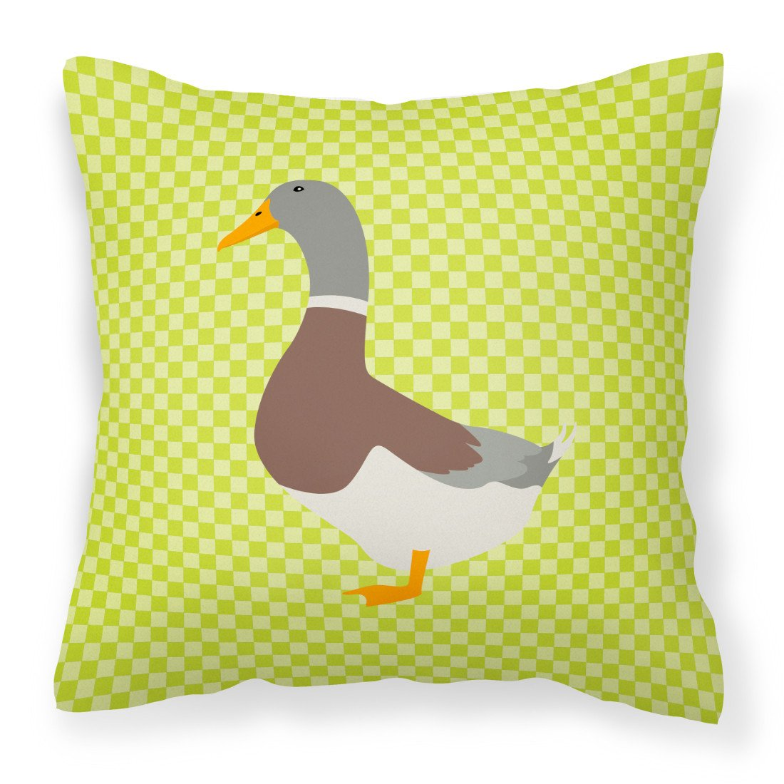 Saxony Sachsenente Duck Green Fabric Decorative Pillow BB7689PW1818 by Caroline's Treasures