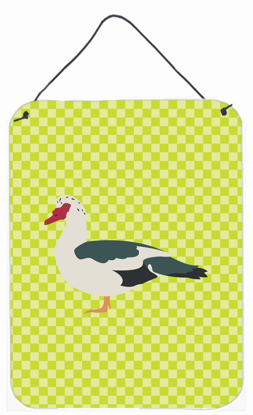 Muscovy Duck Green Wall or Door Hanging Prints BB7690DS1216 by Caroline's Treasures