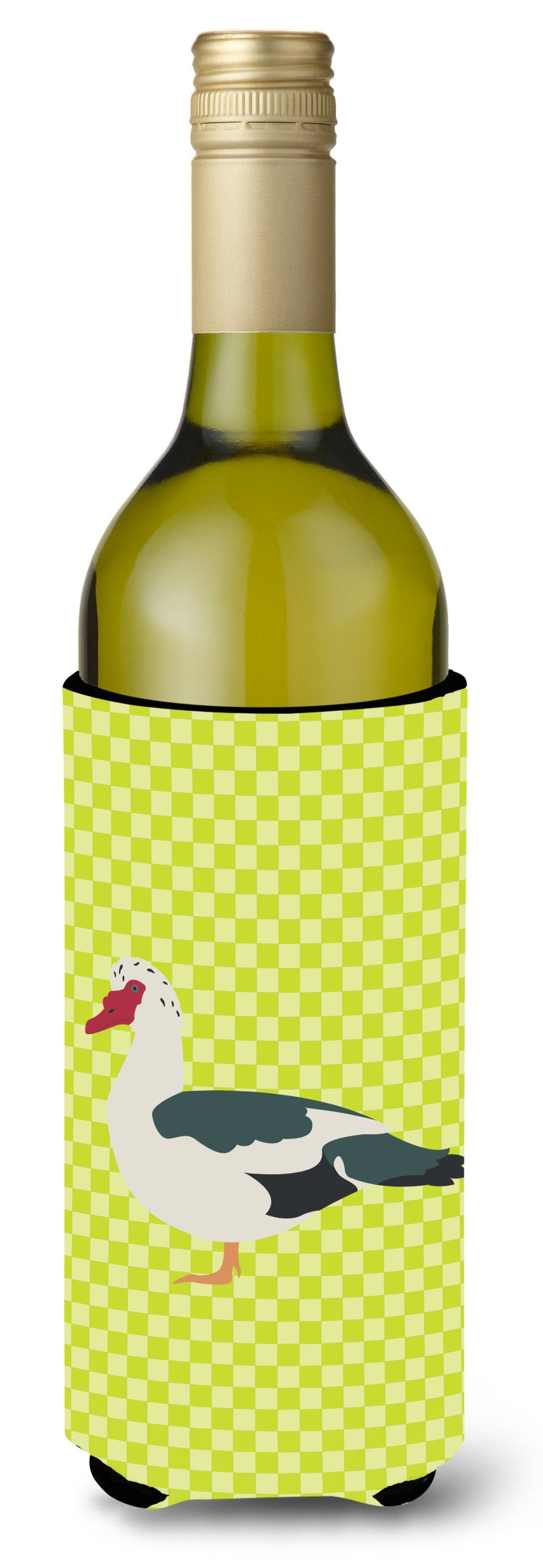 Muscovy Duck Green Wine Bottle Beverge Insulator Hugger BB7690LITERK by Caroline's Treasures