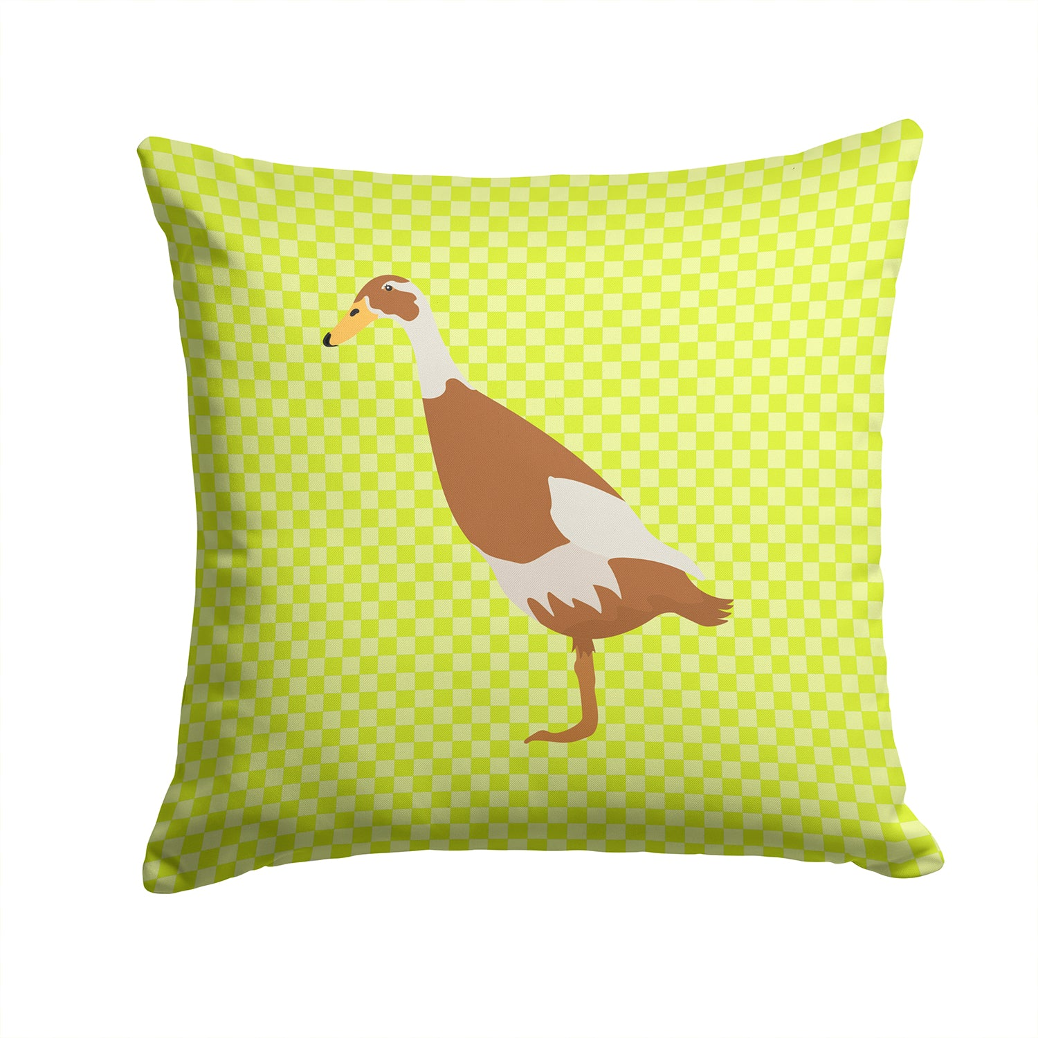 Indian Runner Duck Green Fabric Decorative Pillow BB7691PW1414 by Caroline's Treasures