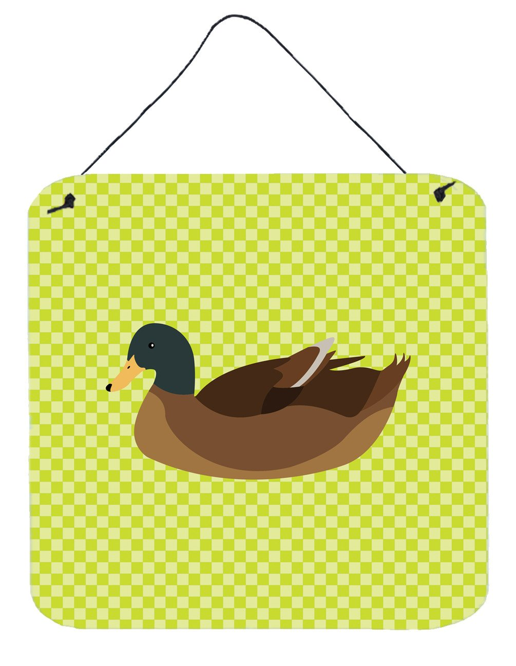 Khaki Campbell Duck Green Wall or Door Hanging Prints BB7692DS66 by Caroline's Treasures