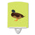 Silver Bantam Duck Green Ceramic Night Light BB7693CNL by Caroline's Treasures