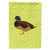 Silver Bantam Duck Green Flag Garden Size by Caroline's Treasures