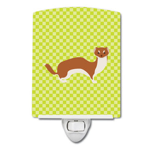 Buy this Weasel Green Ceramic Night Light BB7696CNL