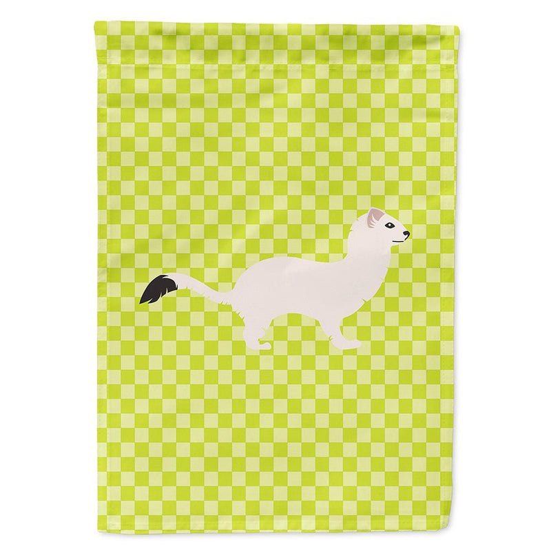 Buy this Stoat Short-tailed Weasel Green Flag Garden Size