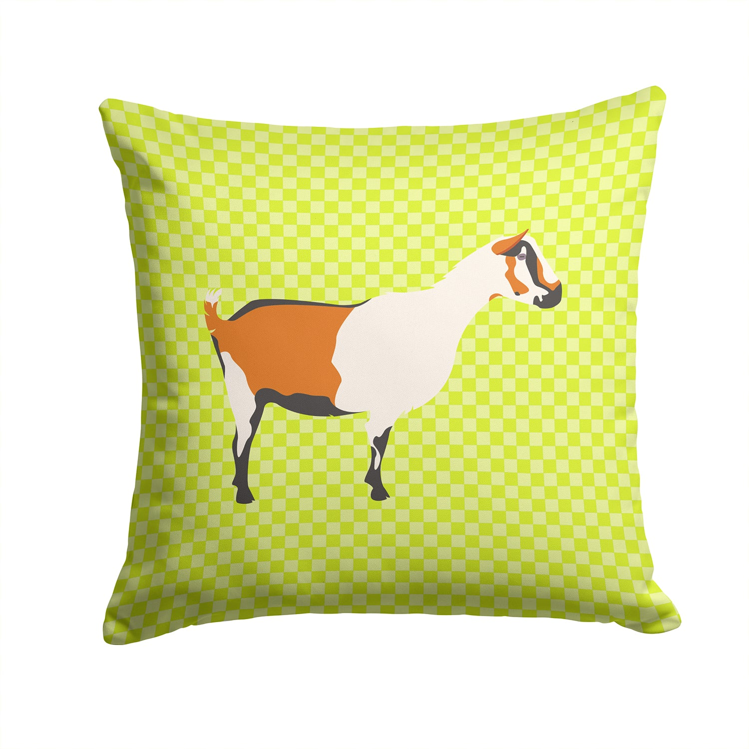 Alpine Goat Green Fabric Decorative Pillow BB7706PW1414 by Caroline's Treasures