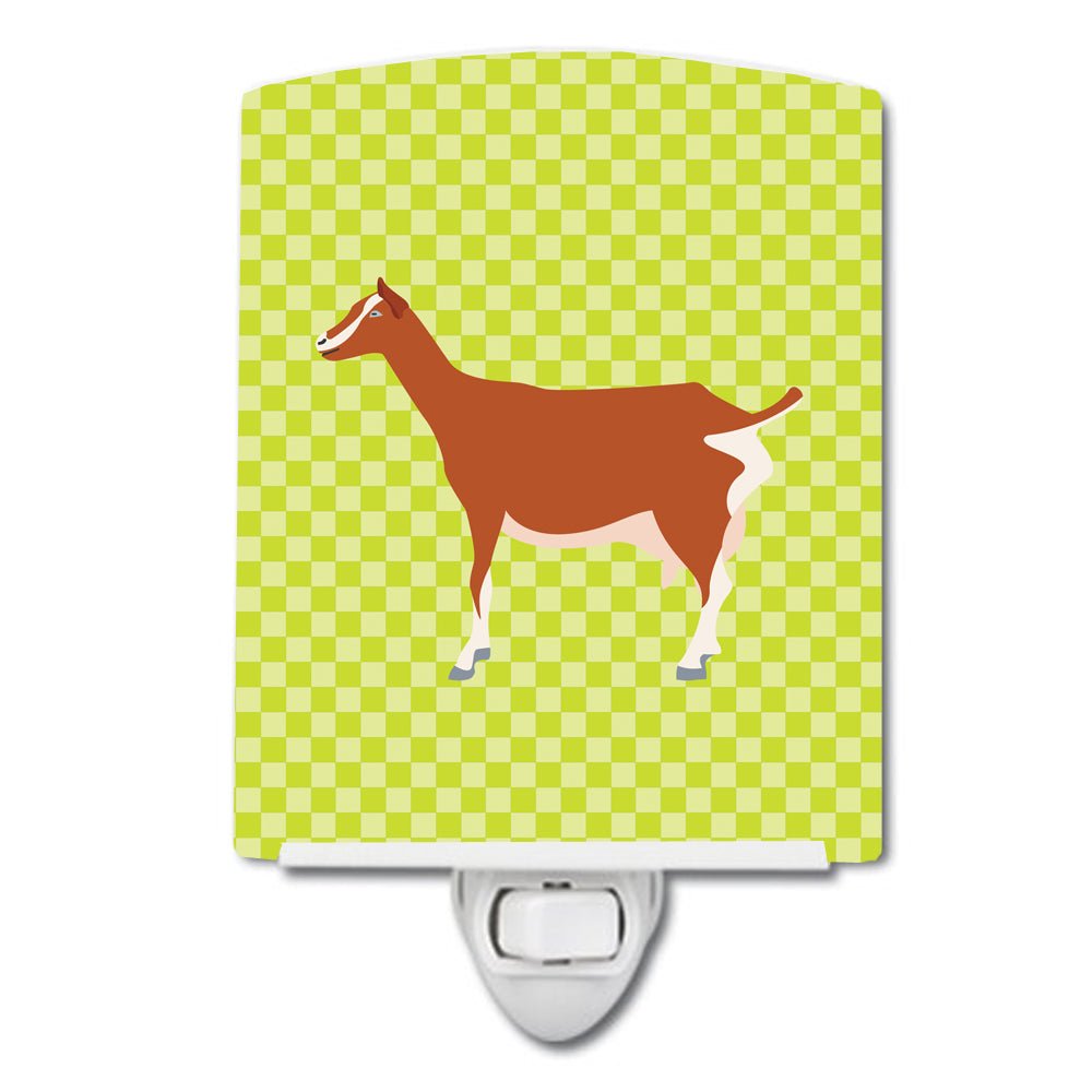 Toggenburger Goat Green Ceramic Night Light BB7707CNL by Caroline's Treasures