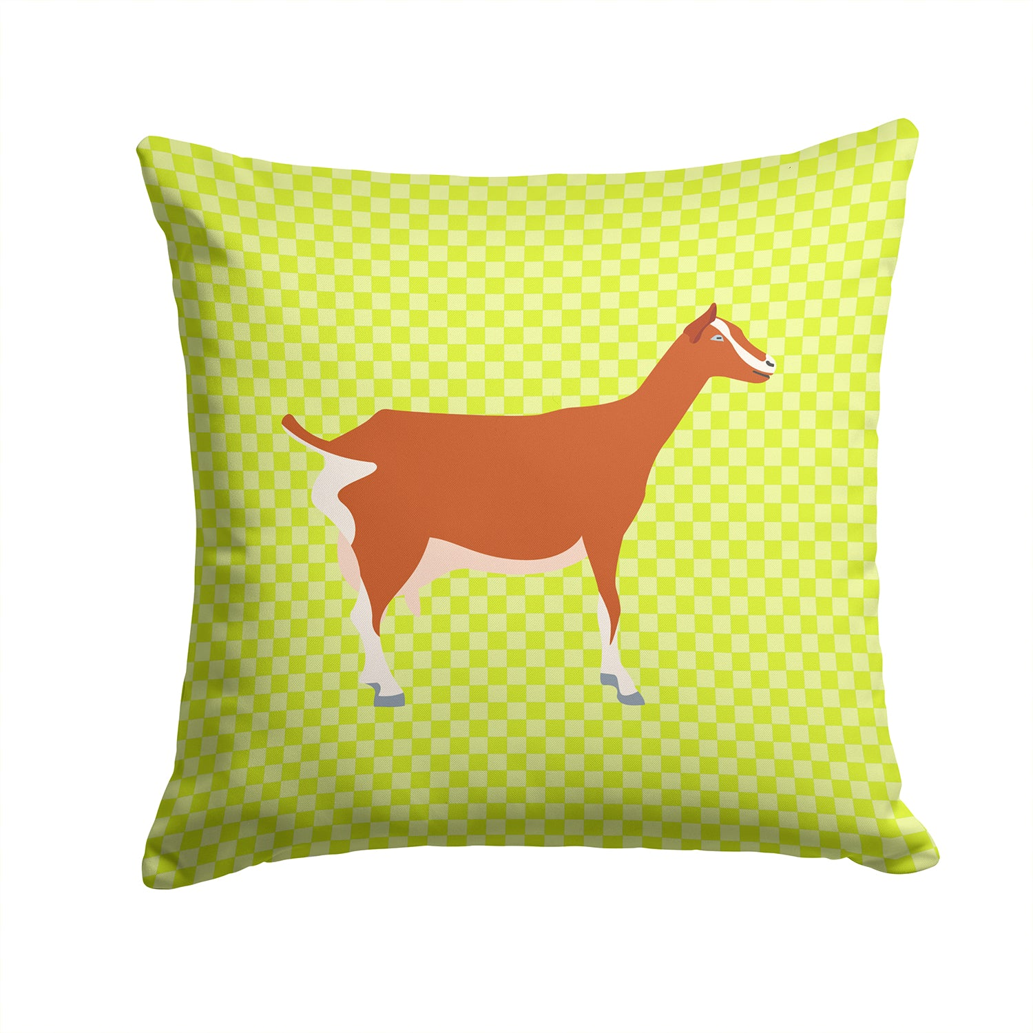 Toggenburger Goat Green Fabric Decorative Pillow BB7707PW1414 by Caroline's Treasures