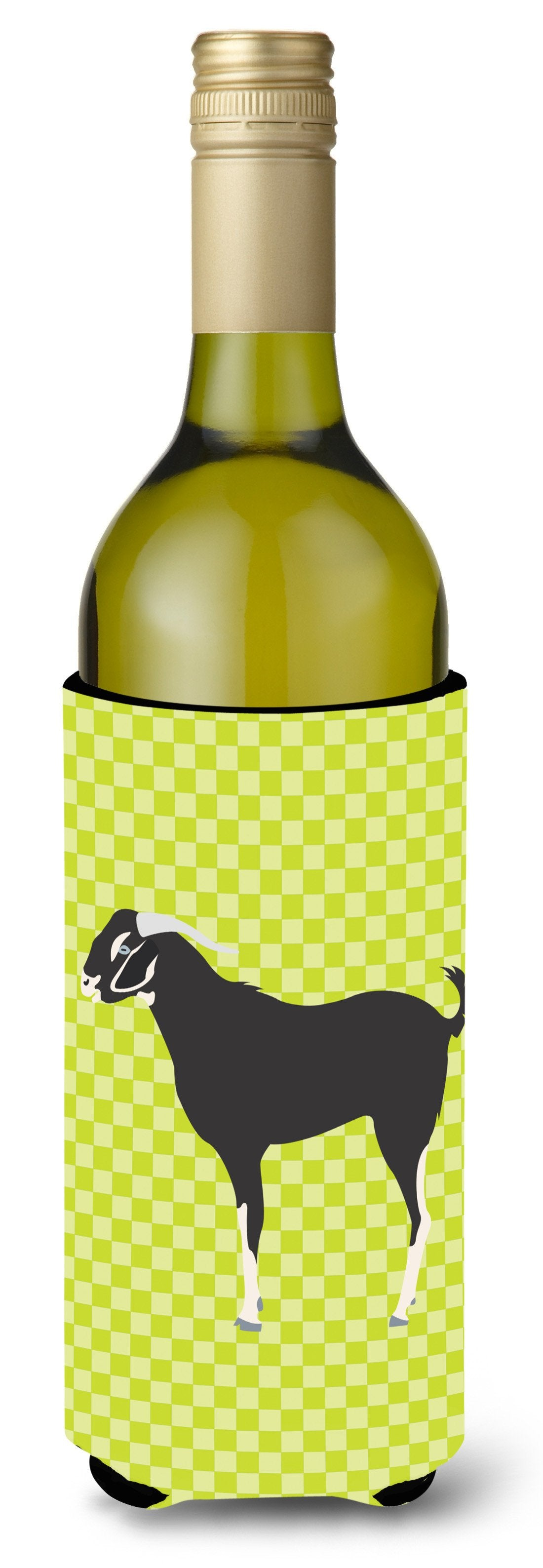 Buy this Black Bengal Goat Green Wine Bottle Beverge Insulator Hugger BB7710LITERK