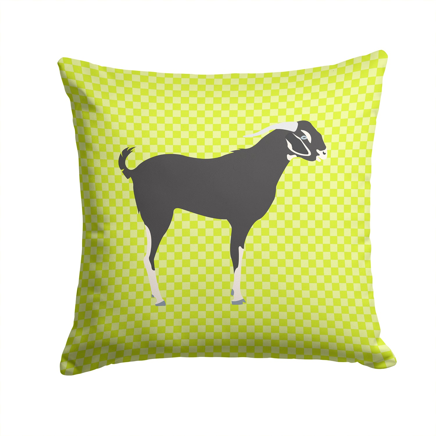 Buy this Black Bengal Goat Green Fabric Decorative Pillow BB7710PW1414