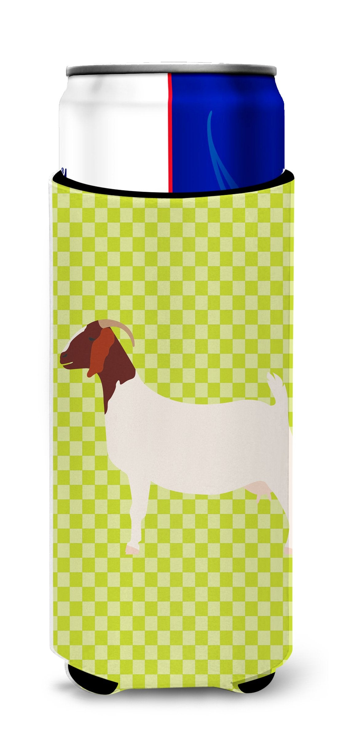 Boer Goat Green Michelob Ultra Hugger for slim cans by Caroline's Treasures