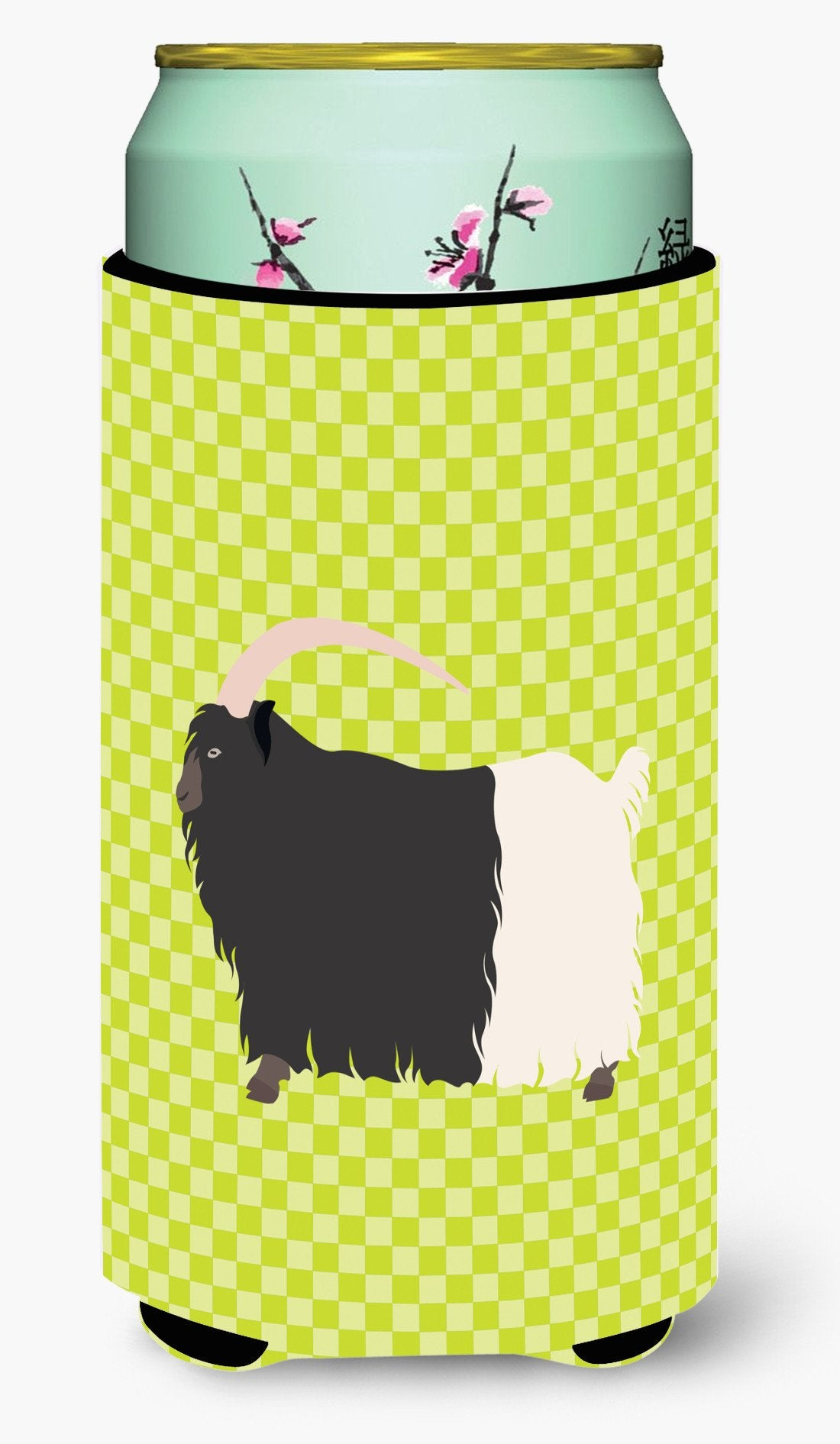 Welsh Black-Necked Goat Green Tall Boy Beverage Insulator Hugger BB7713TBC by Caroline's Treasures