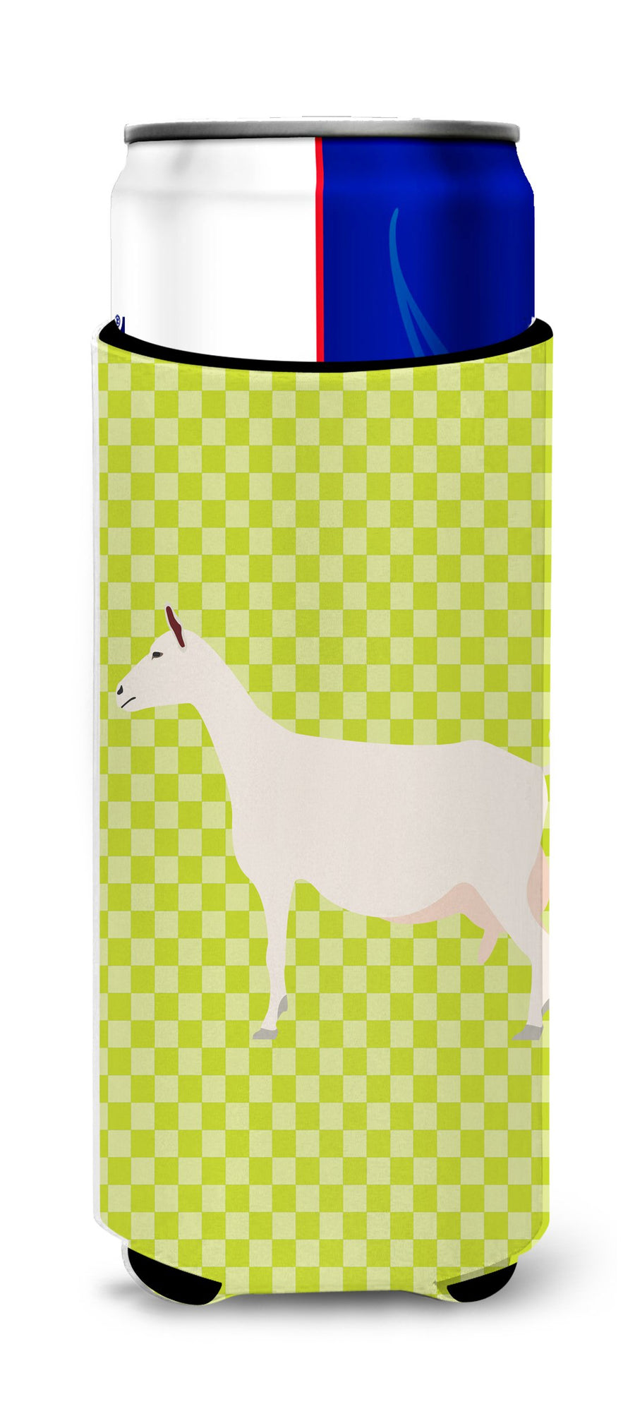Buy this Saanen Goat Green Michelob Ultra Hugger for slim cans