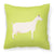 Saanen Goat Green Fabric Decorative Pillow BB7715PW1818 by Caroline's Treasures