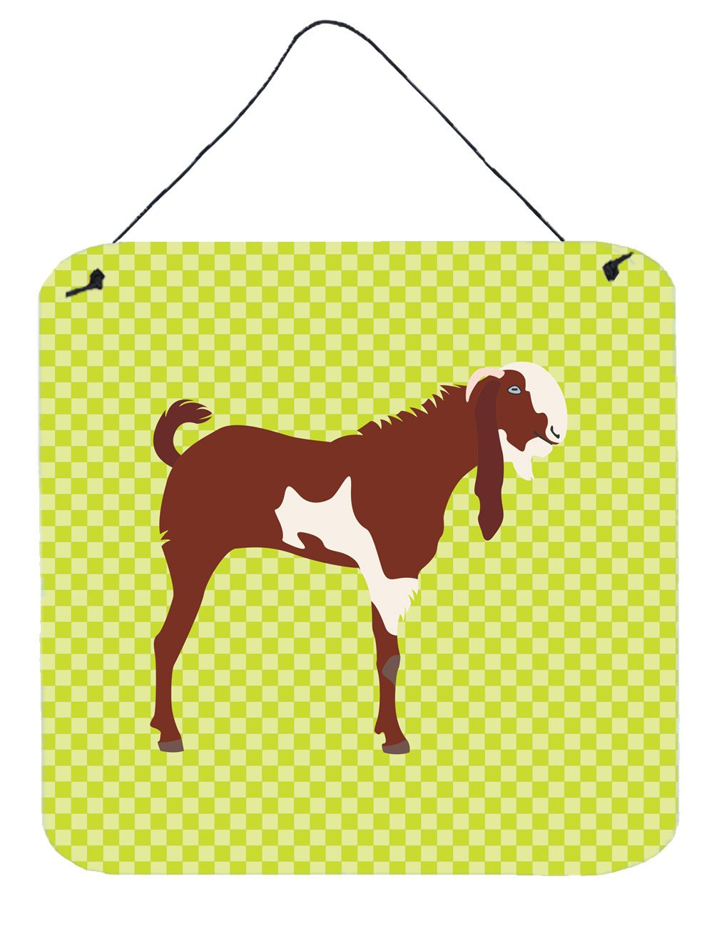 Jamnapari Goat Green Wall or Door Hanging Prints BB7716DS66 by Caroline's Treasures