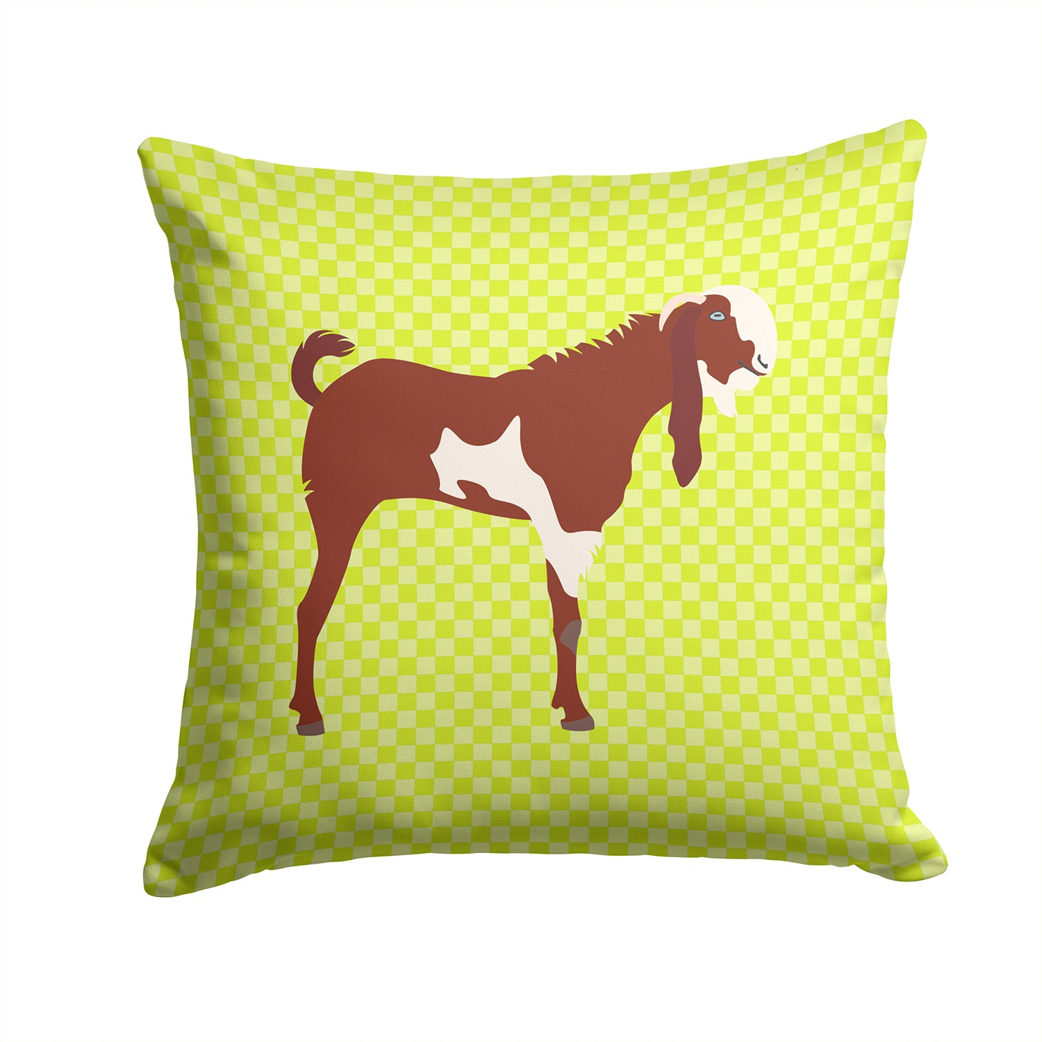 Jamnapari Goat Green Fabric Decorative Pillow BB7716PW1414 by Caroline's Treasures